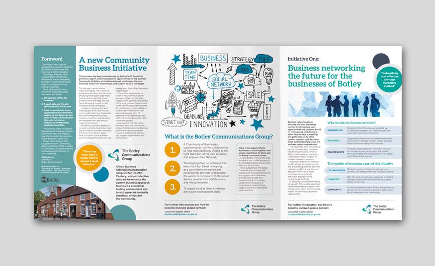 Botley Parish Council roll-fold brochure design