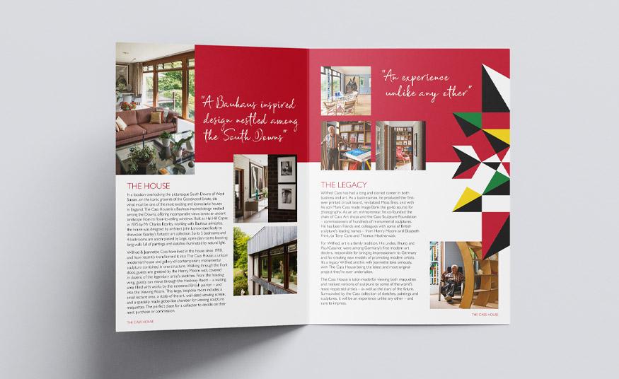 A3 folded brochure design