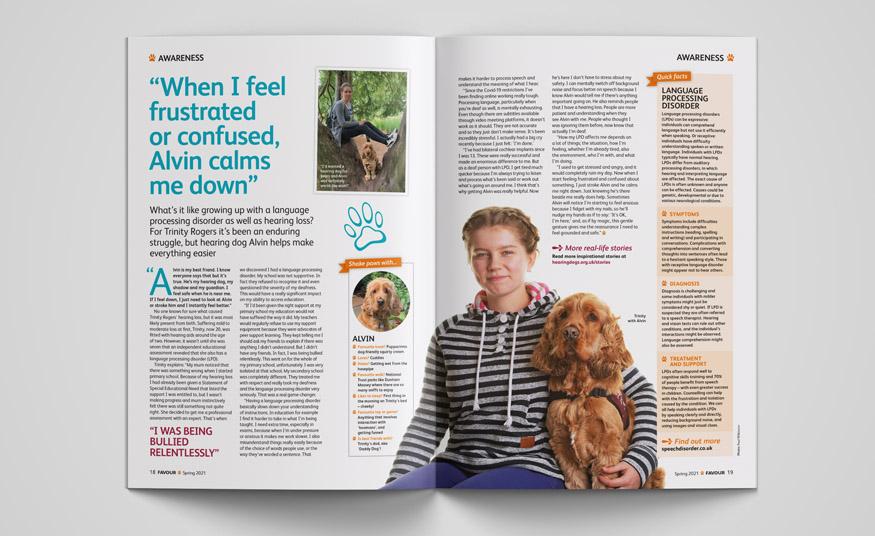 Favour magazine awareness