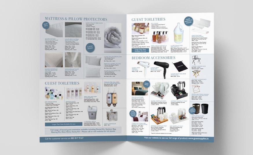 A3 folded product brochure