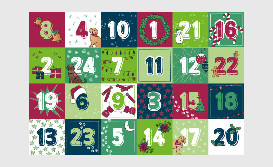 Illustrated Instagram advent calendar