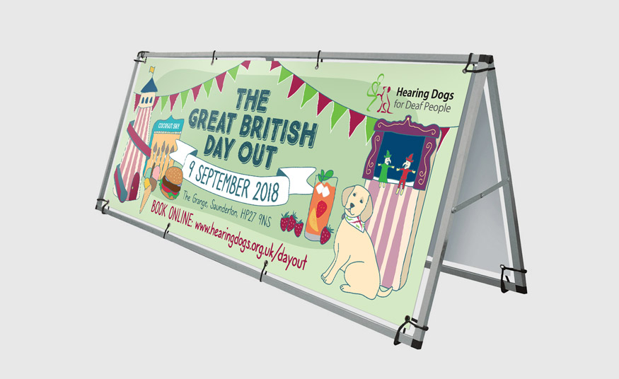 Illustrated outdoor banner
