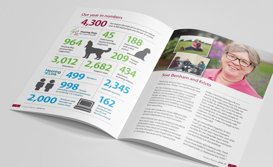 Impact report brochure and infographic