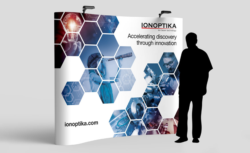 Ionoptika exhibition banner