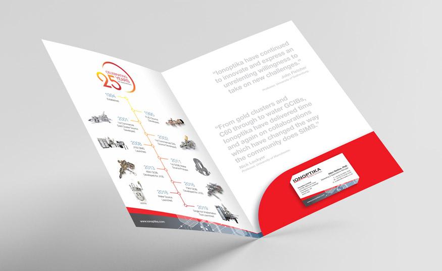 Ionoptika presentation folder with pocket