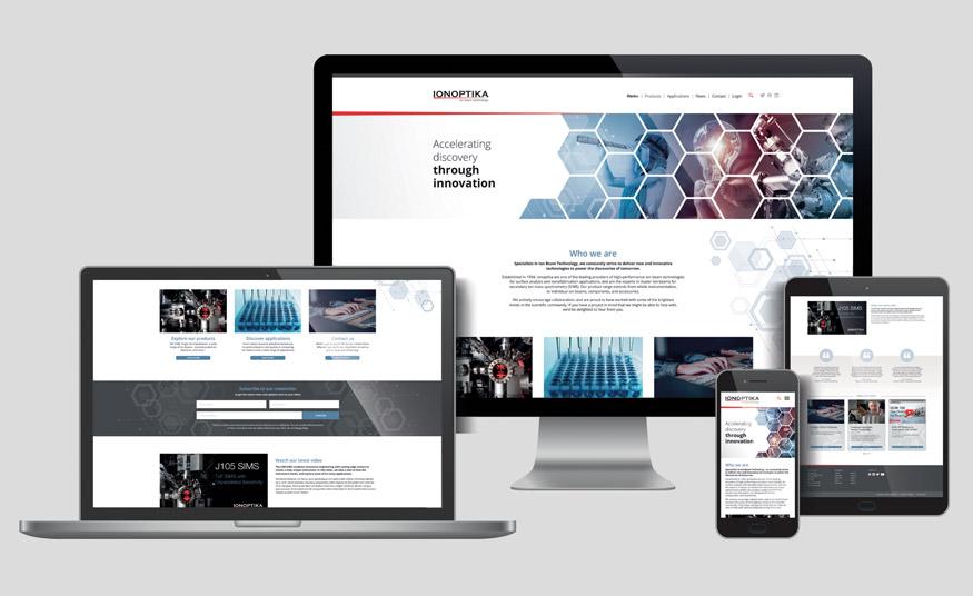 Ionoptika home page design