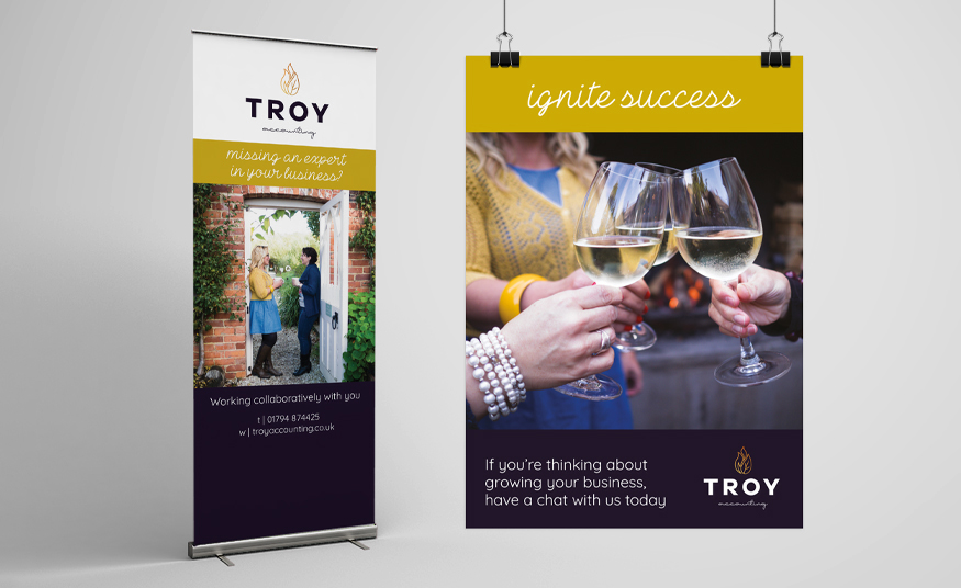 Pop-up banner and poster design