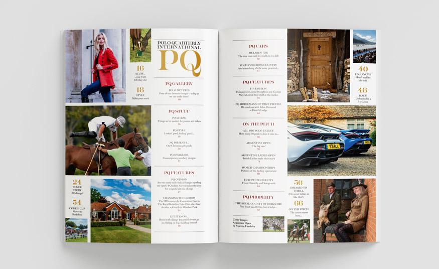 Polo Quarterly Magazine Contents